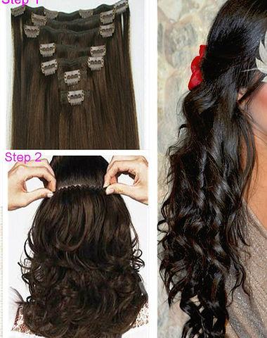Купить накладные волосы на заколках