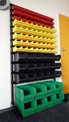 Стеллажи, ящики пластиковые, контейнеры