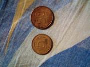 Монеты 5 рублей и 50 рублей